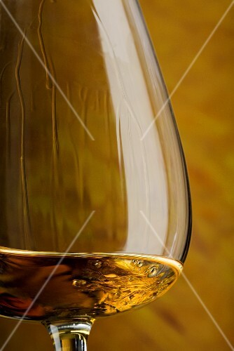 Cognac in snifter (close-up)
