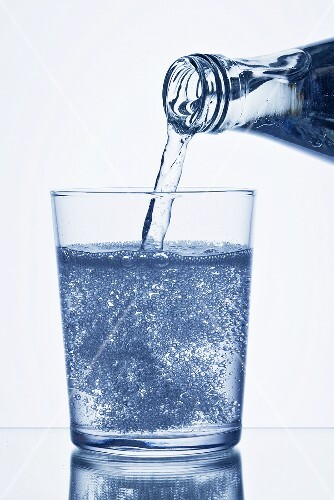 Glass of mineralwater