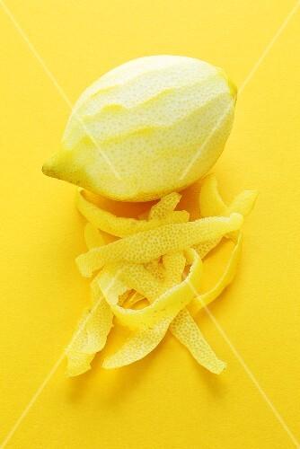 A lemon and lemon peel
