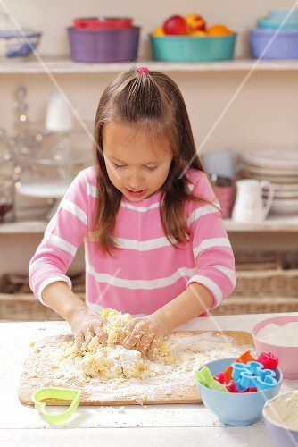 A girl knead shortbread