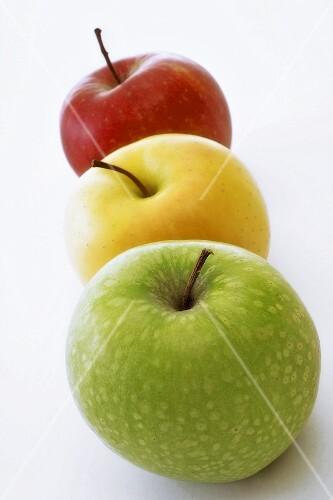 Three different types of apple