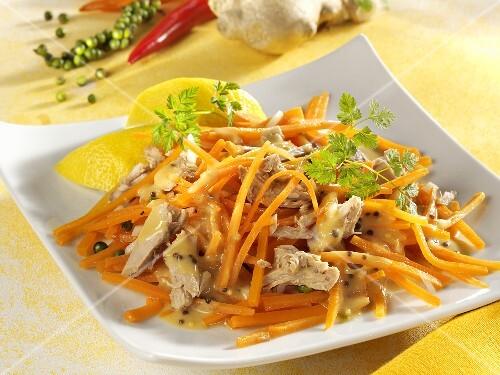 Carrot and tuna salad