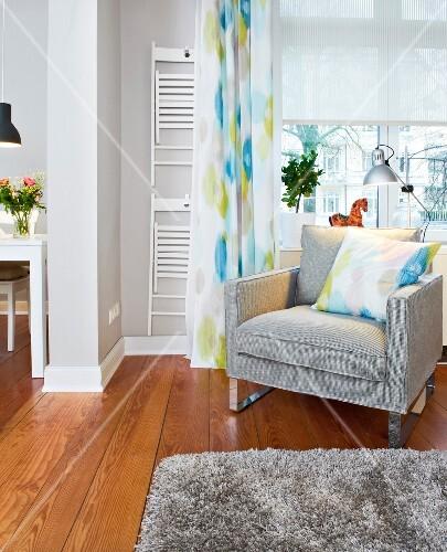 Wohnzimmer, Gestaltung, nachher, Fenster, Sessel, Reservestühle ...