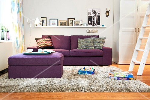 Wohnzimmer, Gestaltung, Sofa, Pouf, Bildergalerie, Galerie