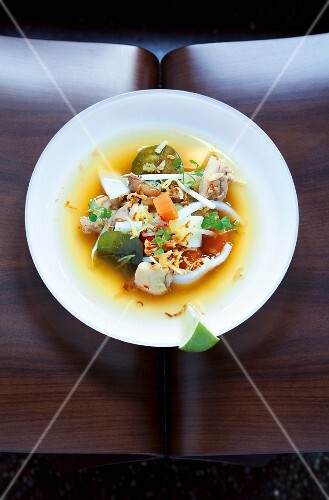 Hot spicy chicken broth (Asia)