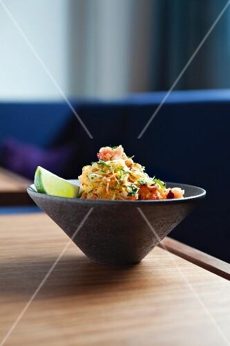 Papaya salad with lobster (Asia)