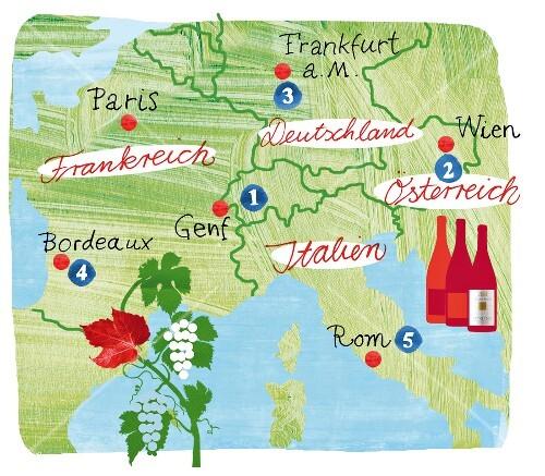 Frankfurt Karte Europa.Landkarte Europa Weingüter Karte Weine Buy Images 10319576
