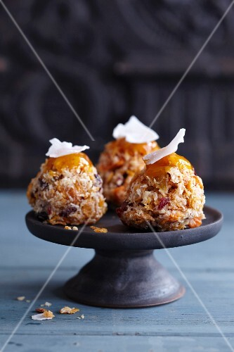 Coconut confectionery made with dried fruit