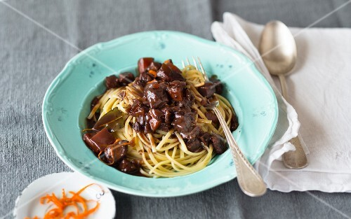 Spaghetti with wild boar ragout
