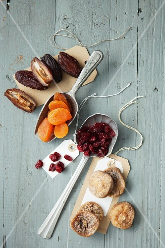 Various dried fruits for a mini Bundt cake