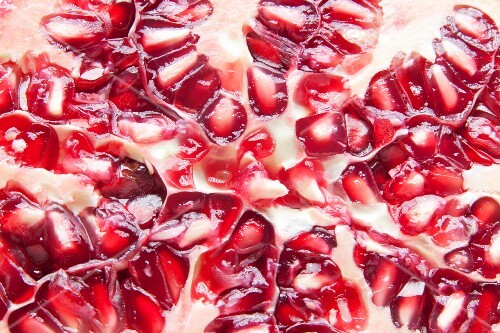 Close Up of Pomegranate Seeds