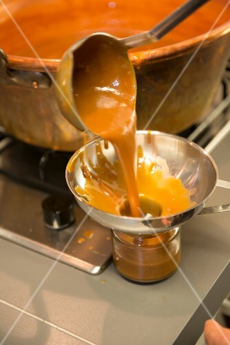 Goat's milk caramel being made