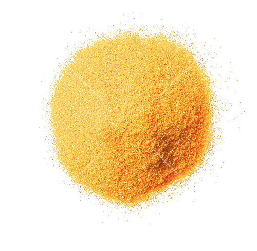 A pile of gold powder (seen from above)
