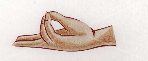 Yogaübung (Hand) Pran-Mudra Lebens-Mudra verbessert d. Vitalität