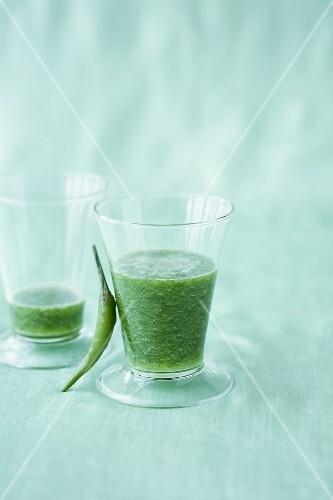 Cucumber shake with chilli