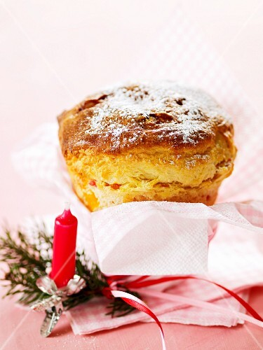 A mini Panettone (Italian Christmas cake)