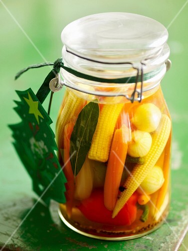 Mixed pickles with mini vegetables