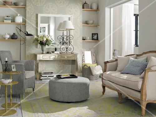 Wohnzimmer Hell Französischer Landhausstil Bild Kaufen 10247426