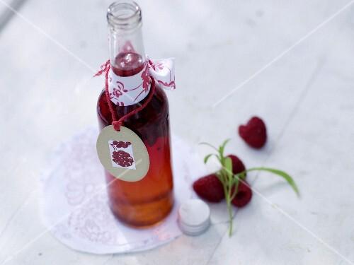 Raspberry vinegar with tarragon