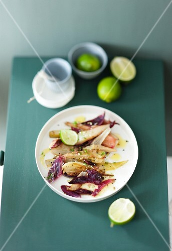 Braised fennel with limes