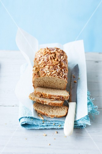 Homemade breakfast bread with almonds
