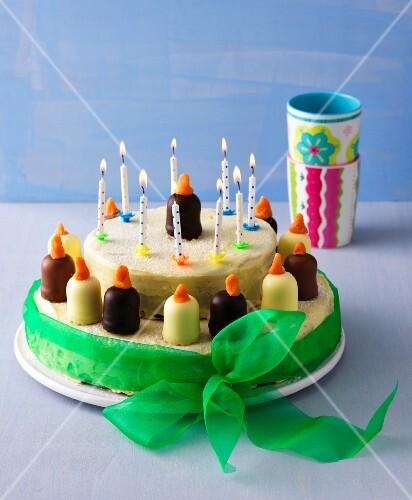 Baking for children: chocolate marshmallow cake