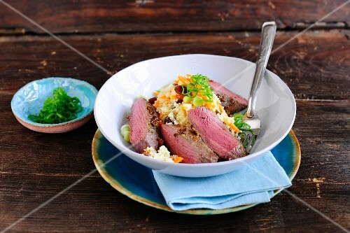 Lamb fillet with carrot couscous