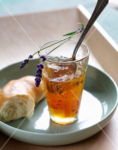 Orange and lemon marmalade with lavender