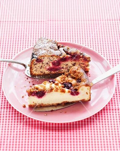 Cherry cake with ricotta and cherry cake with chocolate