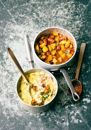 Burgenland potato goulash and potato ragout fin