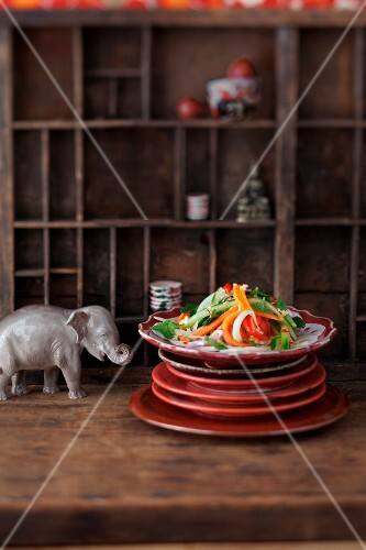 Lotus salad with papaya and cucumber (Vietnam)
