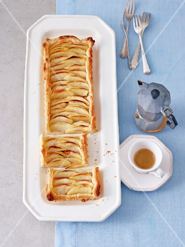 Apple tart with Calvados (Normandy, France)