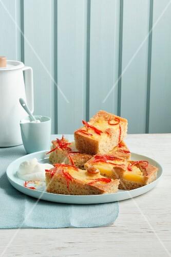 Pineapple cake with jalapeños