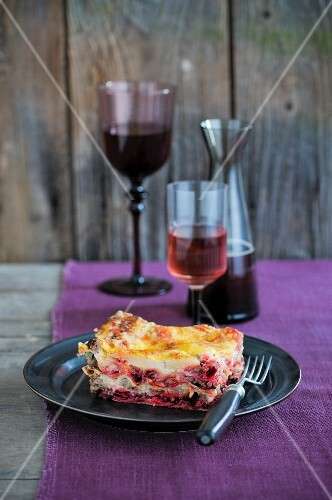 Winter vegetable lasagne
