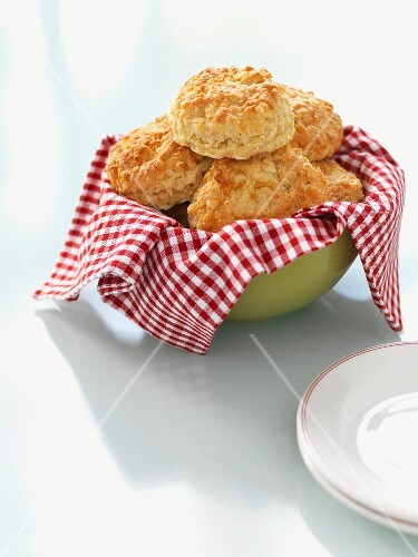 A bowl of cheese scones