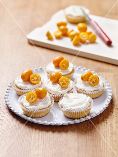 Cupcakes with kumquats
