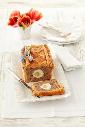 Pork pie with egg