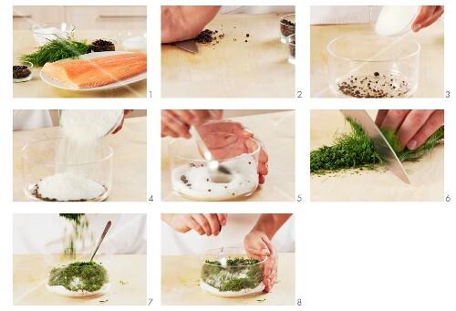 Beize für Lachs zubereiten