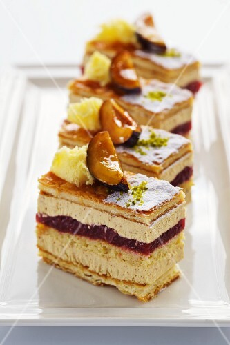 Chestnut and plum slices
