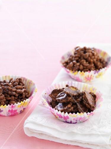 Gluten-free chocolate crispy cakes