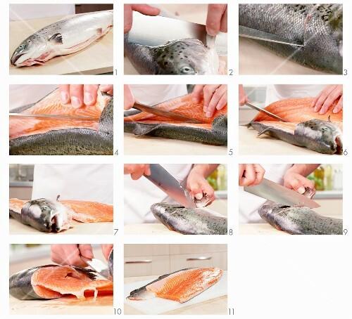 Lachs filetieren