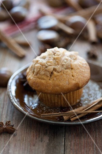 A chestnut muffin
