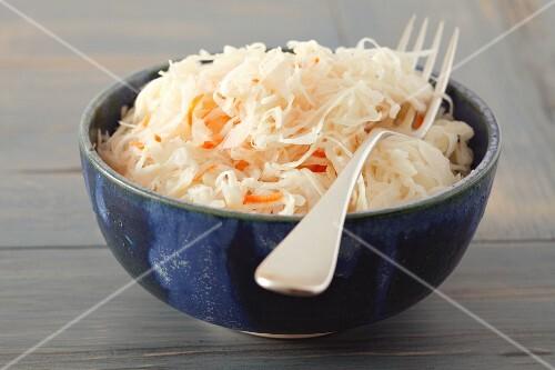 Sauerkraut in a dish