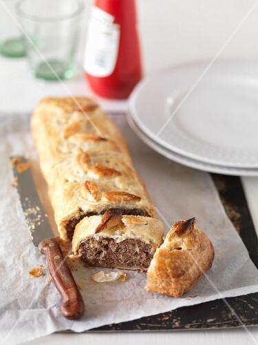 A Cornish pasty