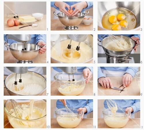 Französische Buttercreme zubereiten