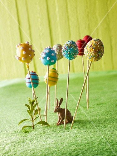 Colourful Easter egg lollies