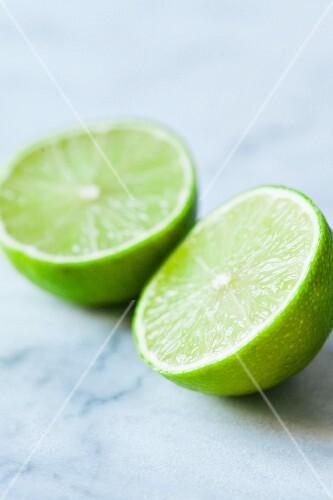 A halved lime