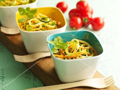 Fettuccine con la verdura (pasta with vegetables)