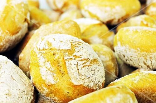 Crispy panini in a bakery