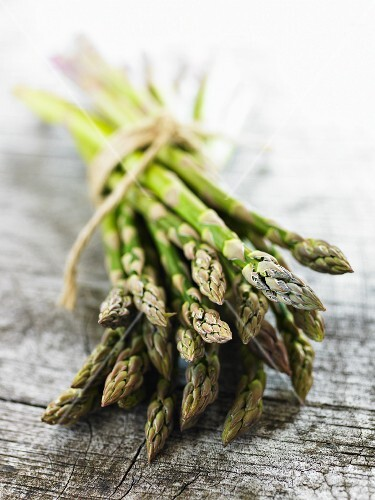 Bundle of Asparagus Tied with Twine